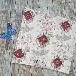 handmade Accents - Lovely Harry Potter Marauders Map Cotton print Env